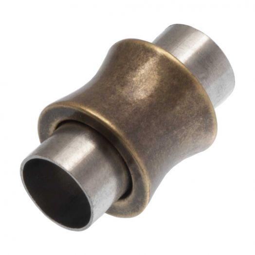 Edelstahl Magnetverschluss (Innenmaß 6 mm) Bronze (1 Stück)