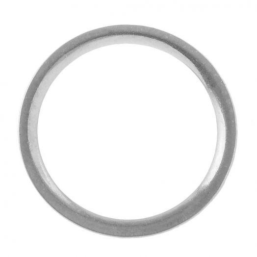 Edelstahl Geschlossener Ringe (12 mm, Innenmaß 10 mm) Altsilber (10 Stück)