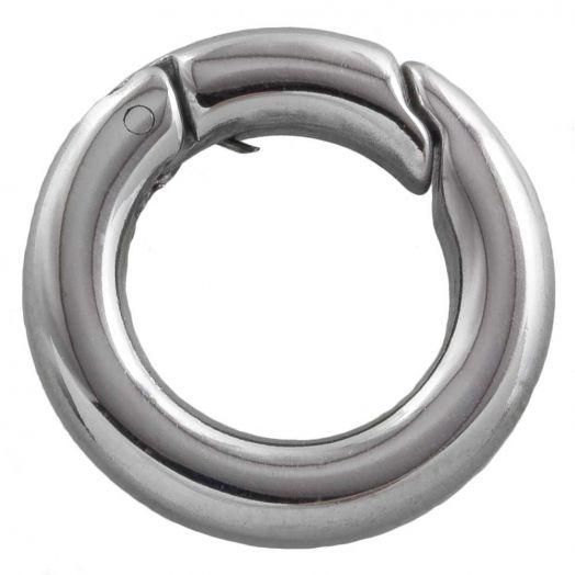 Edelstahl Schlüsselring (18 mm) Altsilber (1 Stück)
