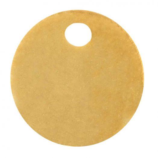 Edelstahl Charm (8 mm) Gold (10 Stück)