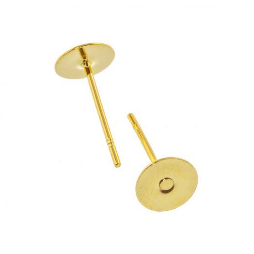 Edelstahl Ohrstecker 6 mm x 0.6 mm (20 Stück) Gold