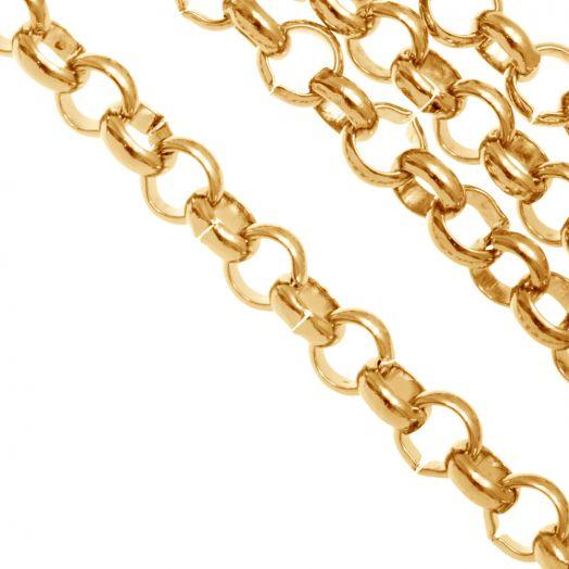 Edelstahl Gliederkette (6 mm) Gold (1 Meter)