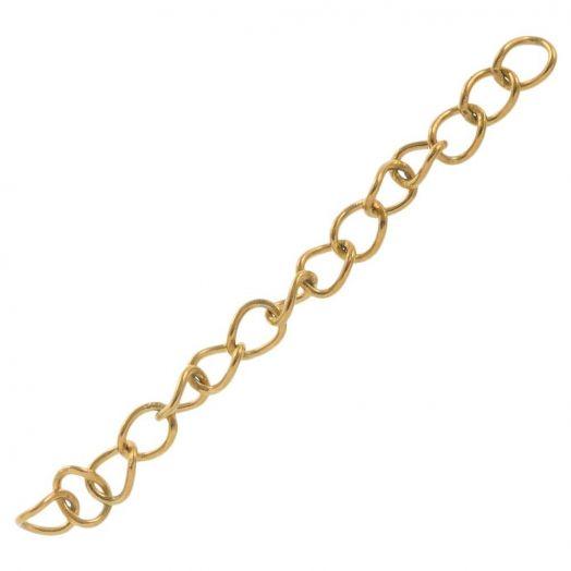 Edelstahl Verlängerungskette (44 mm) Gold (10 Stück)