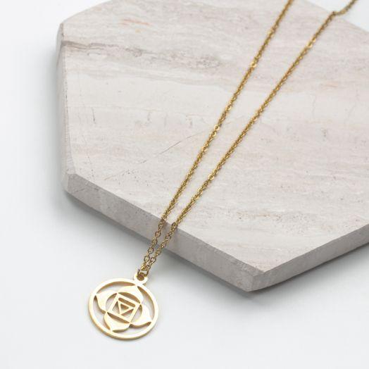 Edelstahl Kette Blume (40 cm) Gold (1 Stück)