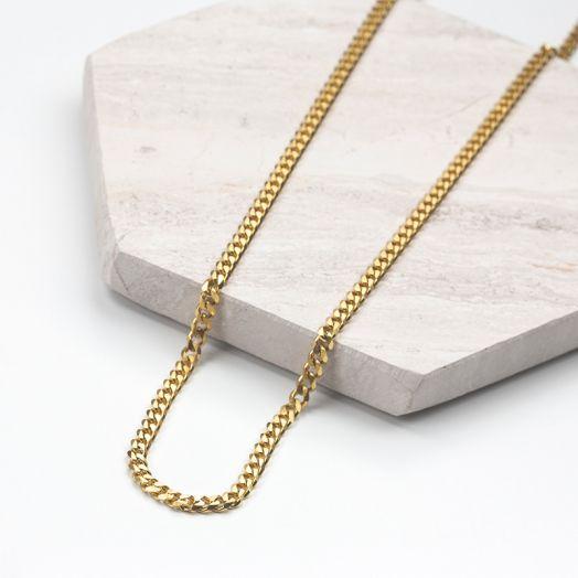 Edelstahl Gliederkette mit großen Elementen (46 cm) Gold (1 Stück)