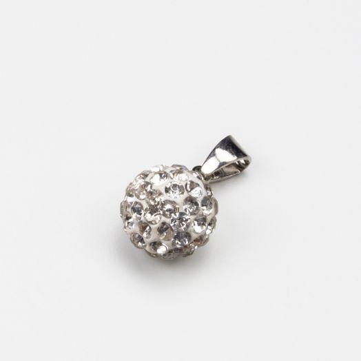 Shamballa Pendant Crystal (10 mm) Altsilber (1 Stück)