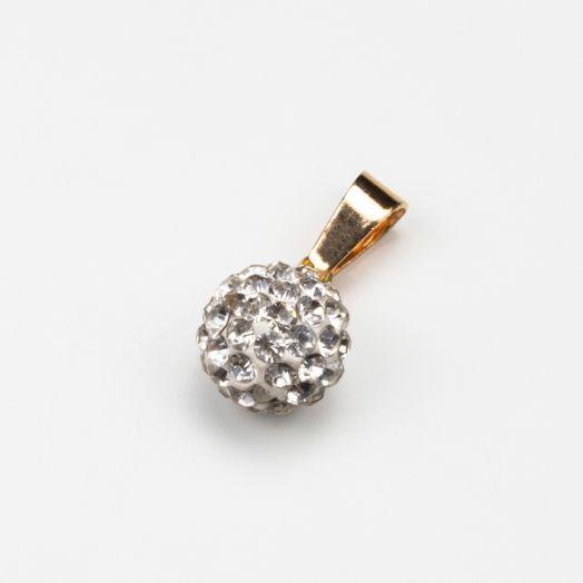 Shamballa Pendant Crystal (10 mm) Gold (1 Stück)